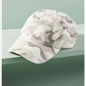 Anthropologie cami camouflage baseball hat NWT